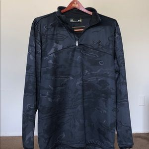 🔥NEW Under Armour Camo quarter zip pullover large